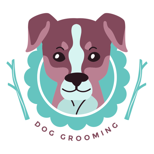 Dog grooming logo Transparent PNG