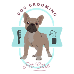Dog grooming pet care logo