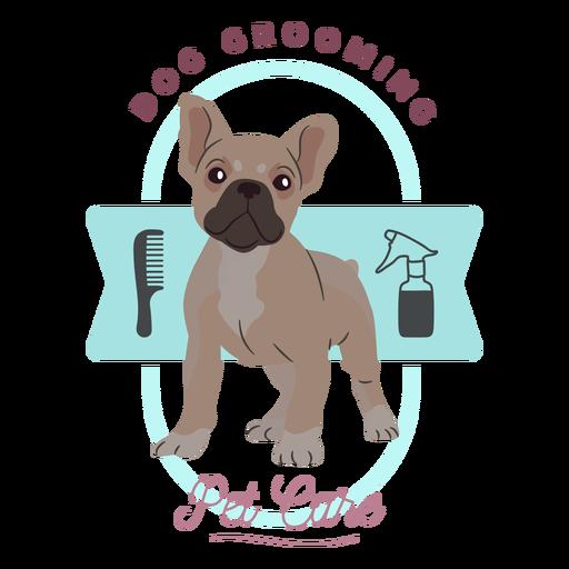 Dog grooming pet care logo Transparent PNG
