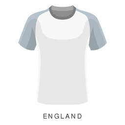 Desenhos animados da camisa de futebol da Copa do Mundo de Inglaterra