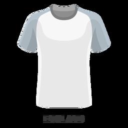 Dibujos animados de camiseta de fútbol de copa mundial de Inglaterra