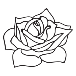 Icono de movimiento de rosa floreciente