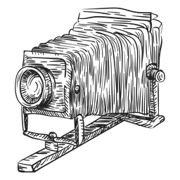 Boceto de cámara plegable