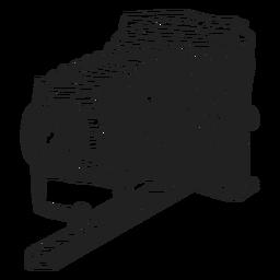 Bosquejo de la cámara plegable