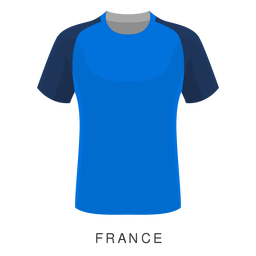 Desenhos animados da camisa do futebol da copa do mundo de France
