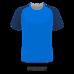 Dibujos animados de camiseta de fútbol de copa mundial de francia
