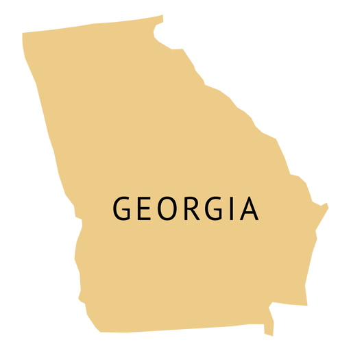 Map Of The State Of Georgia.Georgia State Plain Map Transparent Png Svg Vector
