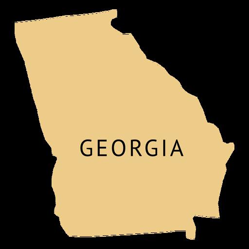 Mapa llano del estado de Georgia