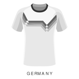 Alemania copa mundial de fútbol camiseta de dibujos animados