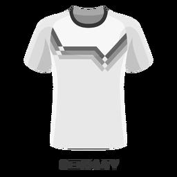 Dibujos animados de camisa de fútbol de Alemania copa del mundo