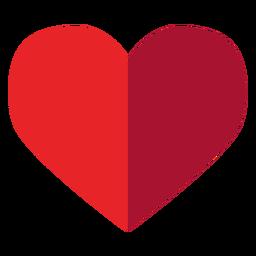 Meio adesivo de coração tonificado