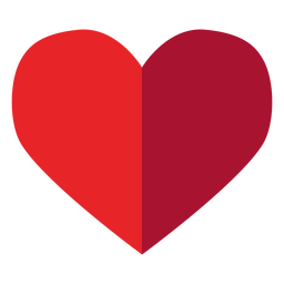 Pegatina de corazón medio tono