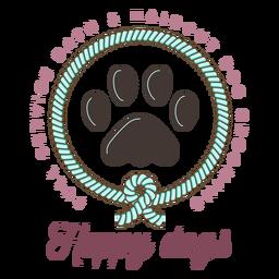 Feliz, cachorros, logotipo