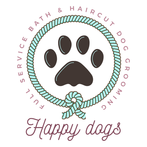 Happy dogs logo Transparent PNG