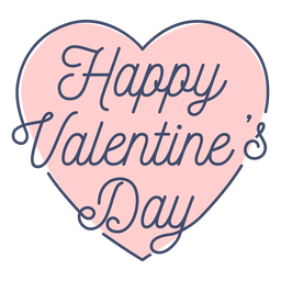 Happy valentine day sticker