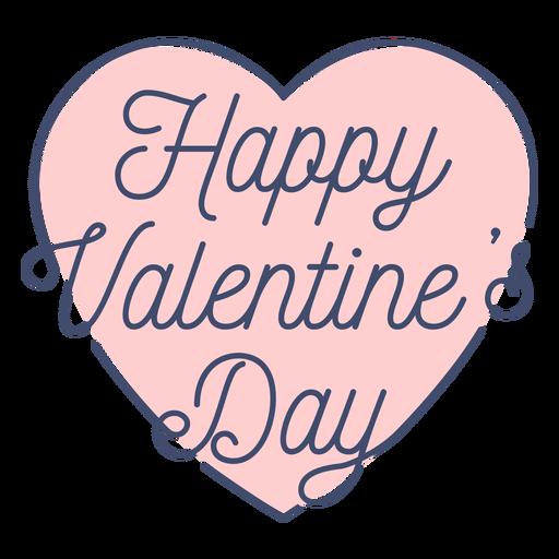 Autocolante de dia dos namorados feliz Transparent PNG