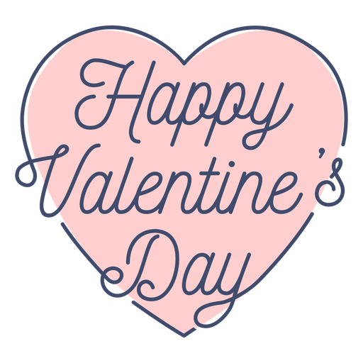 Happy valentine day sticker Transparent PNG