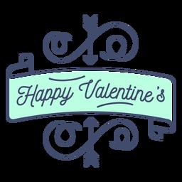 Feliz pegatina de San Valentín
