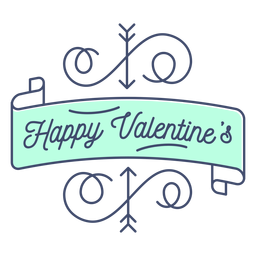 Happy valentine sticker