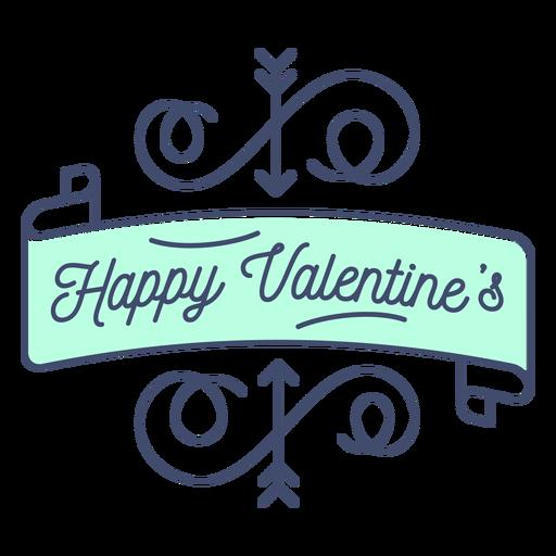Happy valentine sticker Transparent PNG