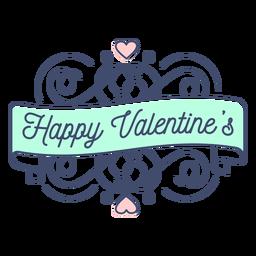 Etiqueta engomada feliz de San Valentín