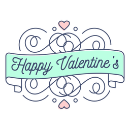 Happy valentines sticker