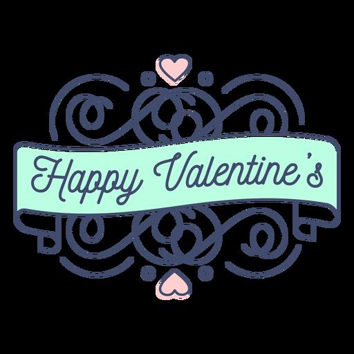Happy valentines sticker Transparent PNG