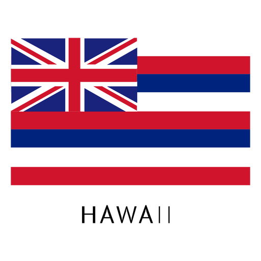 Hawaii state flag Transparent PNG