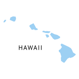Mapa llano del estado de Hawaii