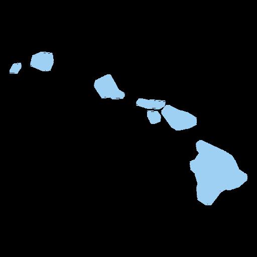 Mapa llano del estado de Hawaii