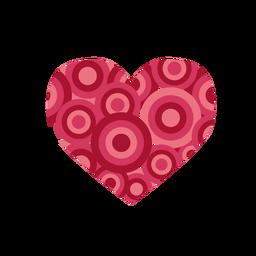 Corazón lleno de círculos