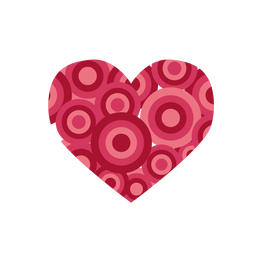 Corazón lleno de circulos