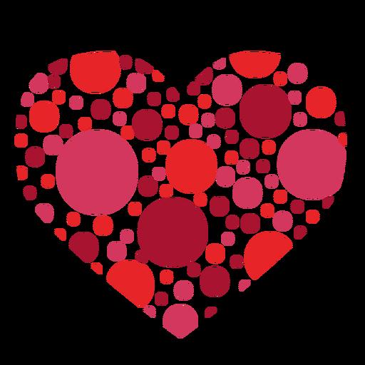 Adesivo de coração feito de círculos Transparent PNG