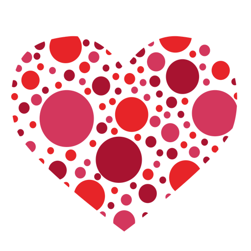 Heart made of circles sticker Transparent PNG