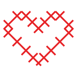 Pegatina corazón hecho de cruces
