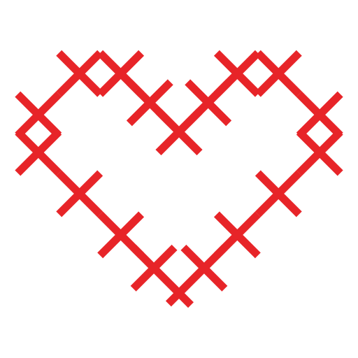 Heart made of crosses sticker Transparent PNG