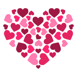 Heart made of hearts sticker