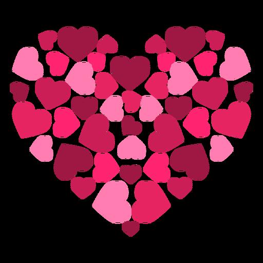 Pegatina corazón hecho de corazones Transparent PNG
