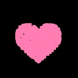Coração feito de etiqueta líquida