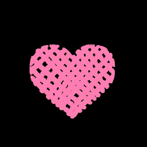 Heart made of net sticker Transparent PNG