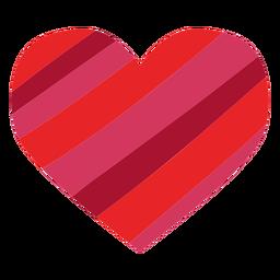 Coração feito de etiqueta de listras