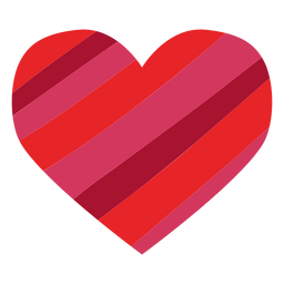Heart made of stripes sticker