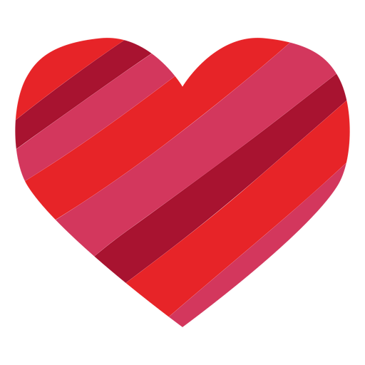 Heart made of stripes sticker Transparent PNG