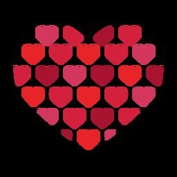 Etiqueta do padrão do coração