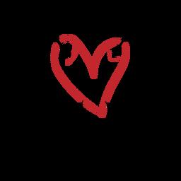 Coração perfurado com duas setas