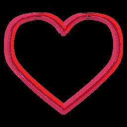 Etiqueta em forma de coração