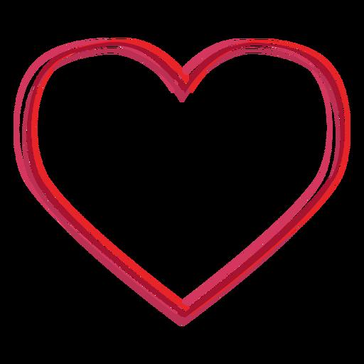 Adesivo de linhas em forma de coração Transparent PNG