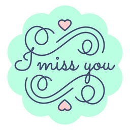 I miss you sticker