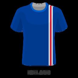 Dibujos animados de camiseta de fútbol de copa mundial de Islandia