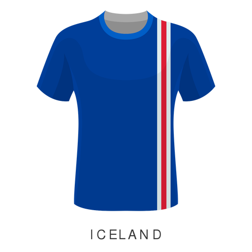 Iceland world cup football shirt cartoon Transparent PNG